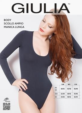 Body Scollo Ampio Manica Lunga